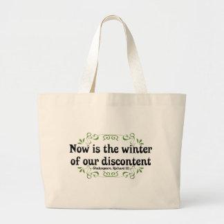 El Now es el invierno de nuestro descontento Bolsa Tela Grande