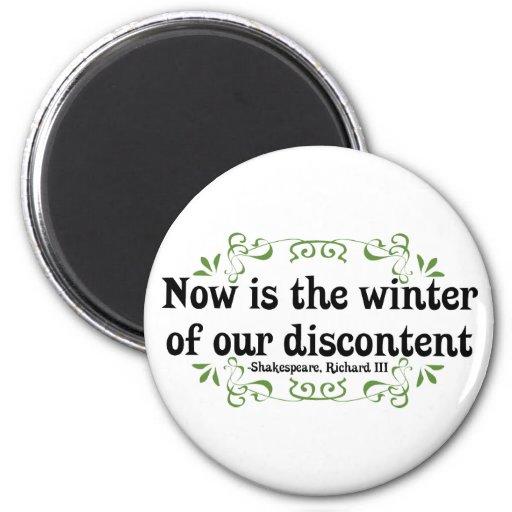 El Now es el invierno de nuestro descontento Imán