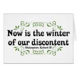 El Now es el invierno de nuestro descontento Felicitacion
