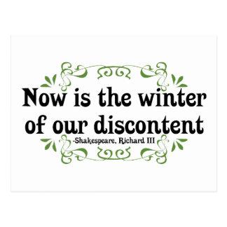 El Now es el invierno de nuestro descontento Tarjeta Postal