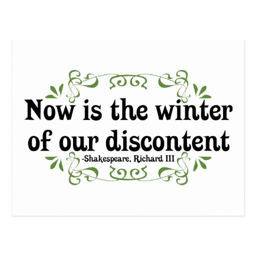 El Now es el invierno de nuestro descontento Postales