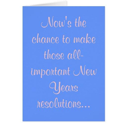 El Now es la ocasión de hacer ésos el Ne Tarjeta De Felicitación