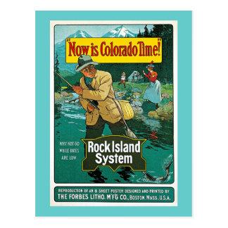 ¡El Now es tiempo de Colorado! Anuncio del viaje Tarjetas Postales