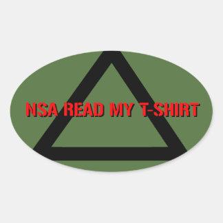 El NSA leyó mi camiseta Calcomanías Ovaladas Personalizadas