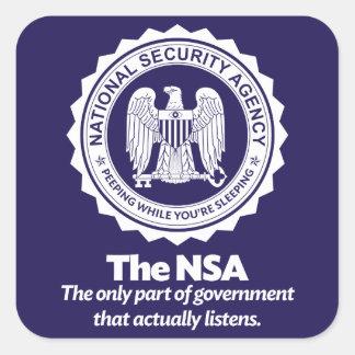El NSA Pegatina Cuadrada