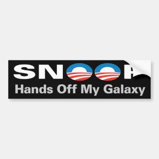 ¡El NSA que escucha… da de mi galaxia! Pegatina Para Auto