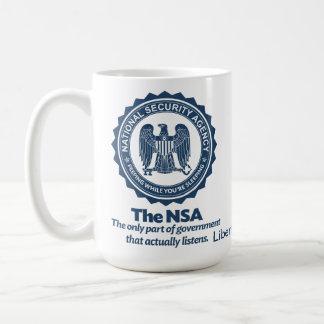 El NSA Taza Básica Blanca