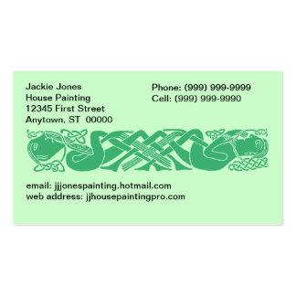 El nudo céltico anuda gaélico cualquier tarjeta de plantilla de tarjeta de negocio