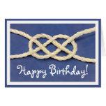 ¡El nudo de los marineros - feliz cumpleaños! Tarjetas