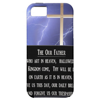 El nuestro rezo del padre iPhone 5 Case-Mate protectores