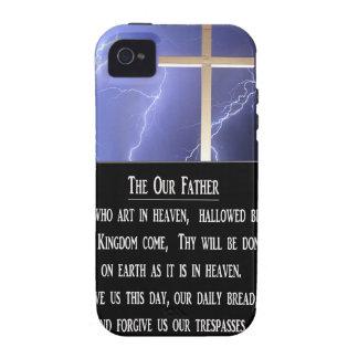 El nuestro rezo del padre iPhone 4 fundas