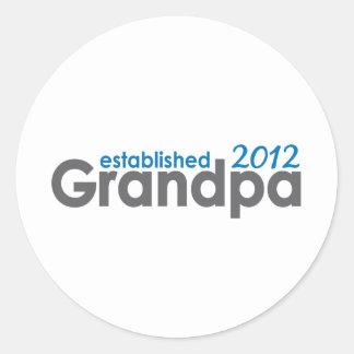 El nuevo abuelo estableció 2012 pegatina redonda