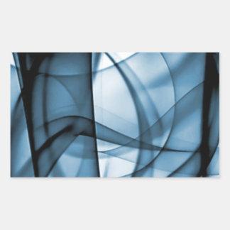 El nuevo arco iris agita la colección - onda azul pegatina rectangular