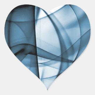 El nuevo arco iris agita la colección - onda azul pegatina en forma de corazón