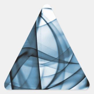 El nuevo arco iris agita la colección - onda azul pegatina triangular