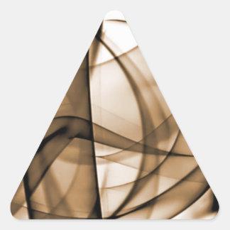 El nuevo arco iris agita la colección - onda de Br Pegatinas Trianguladas Personalizadas