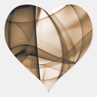 El nuevo arco iris agita la colección - onda de pegatina en forma de corazón