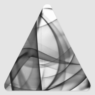 El nuevo arco iris agita la colección - onda del n calcomanía triangulo