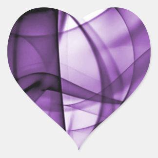 El nuevo arco iris agita la colección - onda pegatina en forma de corazón