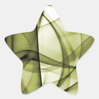 El nuevo arco iris agita la colección - onda pegatina en forma de estrella
