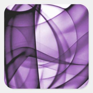 El nuevo arco iris agita la colección - onda pegatina cuadrada