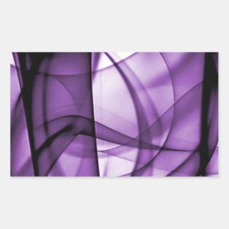 El nuevo arco iris agita la colección - onda pegatina rectangular