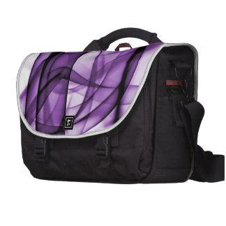 El nuevo arco iris agita la colección - onda púrpu bolsas para portátil