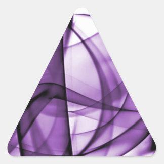 El nuevo arco iris agita la colección - onda púrpu colcomanias triangulo