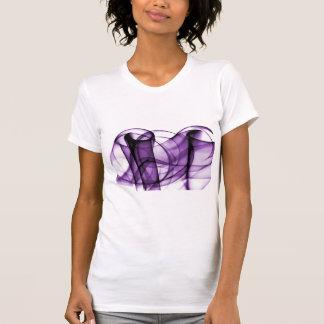 El nuevo arco iris agita la colección - onda púrpu camisetas