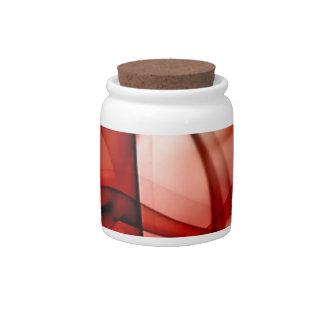 El nuevo arco iris agita la colección - onda roja jarras para caramelos