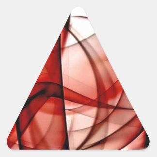 El nuevo arco iris agita la colección - onda roja pegatina triangular