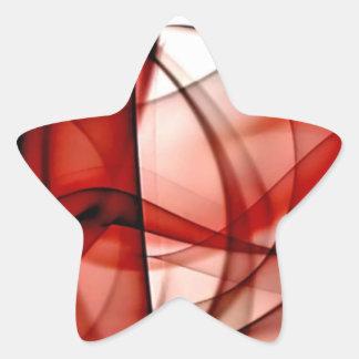 El nuevo arco iris agita la colección - onda roja pegatina en forma de estrella