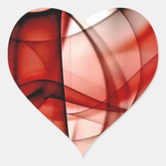 El nuevo arco iris agita la colección - onda roja pegatina en forma de corazón