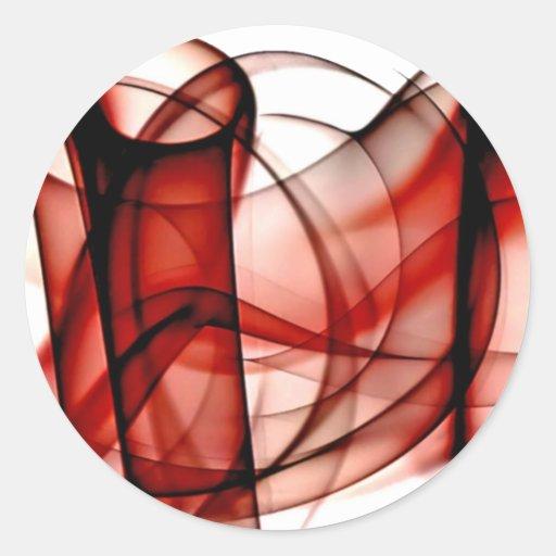 El nuevo arco iris agita la colección - onda roja etiqueta redonda