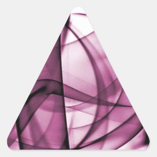 El nuevo arco iris agita la colección - onda rosad calcomanía triangulo
