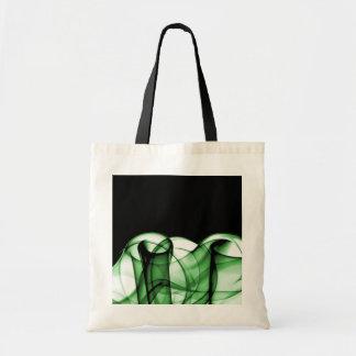 El nuevo arco iris agita la colección - onda verde bolsas lienzo