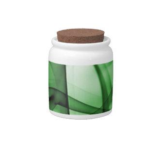 El nuevo arco iris agita la colección - onda verde jarra para caramelo