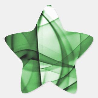 El nuevo arco iris agita la colección - onda verde pegatina en forma de estrella