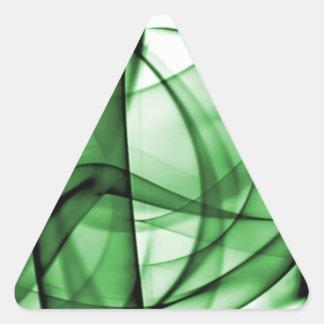 El nuevo arco iris agita la colección - onda verde colcomanias de triangulo