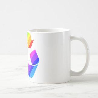 El nuevo arco iris recicla taza clásica