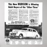 El nuevo automóvil 1940 del Hudson Poster