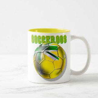 El nuevo balón de fútbol de Socceroos del Taza De Dos Tonos