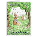 El nuevo bebé hermana la tarjeta de la enhorabuena