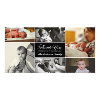El nuevo bebé le agradece tarjeta de la foto tarjeta fotográfica