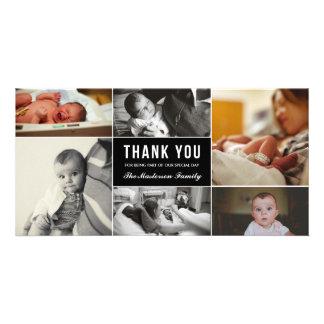 El nuevo bebé le agradece tarjeta de la foto tarjeta personal