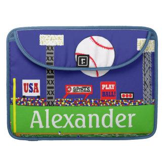 El nuevo béisbol de los deportes de los niños pers fundas macbook pro