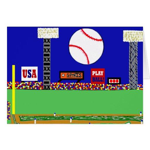 El nuevo béisbol fresco se divierte tarjetas de no