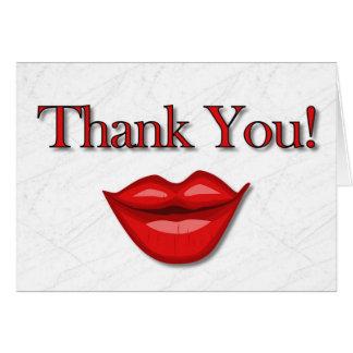 El nuevo cliente le agradece tarjeta de felicitación