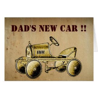 ¡El nuevo coche del papá! … tarjeta de felicitacio