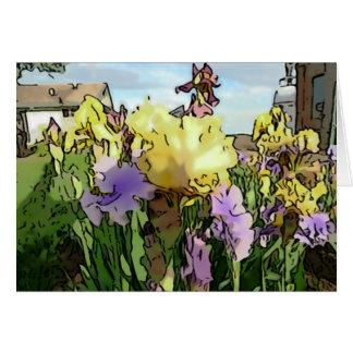 El nuevo día cultiva un huerto Notecard-Iris Tarjeta De Felicitación
